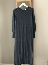 COUNTRY ROAD Grey Long Sleeve Wool Blend Maxi Sweater Dress Size S EUC