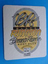Beer Bar Coaster ~*~ A1A Aleworks Black Ribbon Root Beer ~ St Augustine, FLORIDA