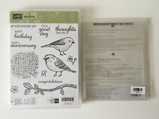 Stampin Up Best Birds Photopolymer Stamp Set And Birds & Blooms Thinlits Dies