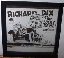Magic Lantern Slide - Film Advert - Richard Dix - The Lucky Devil