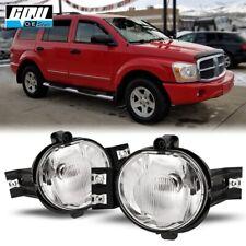 04-06 Fit Dodge Durango Clear Lens Pair Bumper Fog Light Lamp OE Replacement DOT