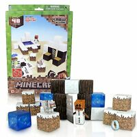 Minecraft Papercraft Snow Set Kid Paper Hobby Action Figure Toy Building Game
