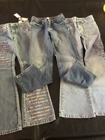 Lot Of 3 Girls Jeans Size 10 Slim Justice, Limited Too(new) And Arizona Cargo