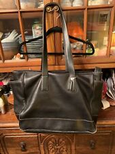 Coach Women's Black Leather Vintage Hampton Large Diaper Tote Bag