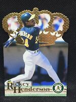 1996 Pacific Collection RICKEY HENDERSON DC-9 Die Cut HOF MINT