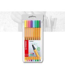 Stabilo Point 88 - 8er Etui Pastellfarben Fineliner, Strichstärke 0,4 mm