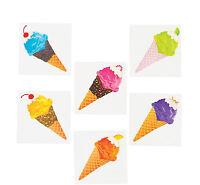 72 I Scream For Ice Cream Party Tattoos Temporary favors