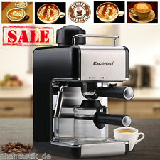 4-Cup Coffee Maker Machine Steam Espresso Cappuccino Latte Drink Stainless Steel