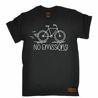 No Emissions Eco Cycling T-SHIRT tee jersey funny birthday gift present for him