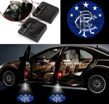 1pr Glasgow Rangers RFC Car Door Wireless Projector Welcome Light Logo Emblem