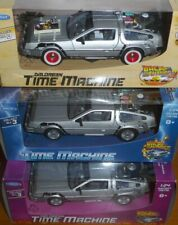 Back to the Future DeLorean 3 car set 1:24 scale new boxed diecast