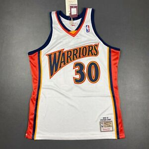 100% Authentic Stephen Curry Mitchell Ness 09 10 Warriors Jersey Size 44 L Mens