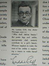 Jackdaw Stockings Laddie Cliff 1930 Advertisement Ad 8302