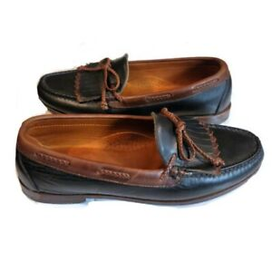 FootJoy Mens SZ 12 Country Club Casual Kilty Leather Loafers Black Slip On Shoes