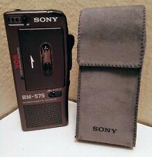 Sony BM-575 Microcassette Dictator Voice Recorder.