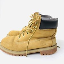 Timberland Boot Men's Youth Size 5M Wheat Leather Safe Working Shoe #12909