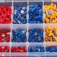 900 tlg Sortiment Kabelschuhe Steckverbinder Quetschverbinder Flachstecker Crimp