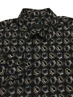 PRADA Men's Long Sleeve Dress Shirt Tools Screws Black Gray Size 15 3/4 - 40