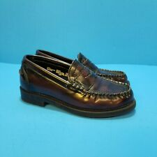 Boy's Faded Glory Penny Loafers Shoes, sz13.5 Burgandy Slip ons Infant