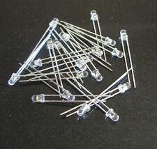 White LED  3mm  x  40.  inc. resistors FREE POSTAGE