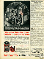 1943 Winchester Arms Flashlight & Battery Print Ad 15th Century London