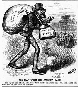CHARLES SCHURZ CARPET BAG FULL OF FAULTS WISCONSIN TO MISSOURI BY THOMAS NAST