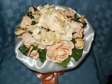 Silk Bouquet & Boutonniere.Peach.Exclusi vely Designed.Brand New