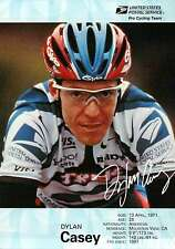 """ Dylan Casey "" Pro Cycling Team, USPS, Bicycling, Cyclist --- 5"" x 7"" Postcard"