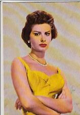 SOPHIA LOREN sexy yellow vintage Photo cp carte postale postcard 190