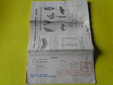 AFFRANCATURA ROSSA LIRE 5 1954 V. FRANCHINI GIA' GOLINI PER FATTORIA NICCOLAI