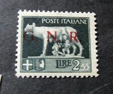 """ITALIA, ITALY, RSI, GNR 1944 1.V."""" L.2,55 SVR GNR Spaziata"""" Variety ss.483A MH"""