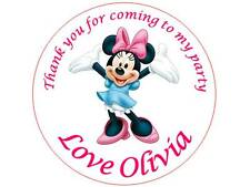 35 Personalised Minnie Mouse Stickers 3 for 2 Thank you Party Seal Birthday