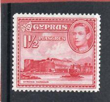 Cyprus GV1 1938-51 1.1/2pi. carmine sg 155 HH.Mint
