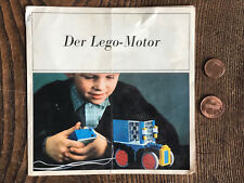 LEGO® ty-3144 Der Lego-Motor Prospekt/Katalog aus den 60ern Dänemark 6 Seiten
