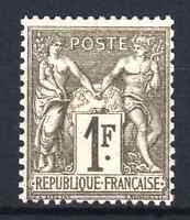 """FRANCE STAMP TIMBRE N° 72 """" SAGE 1F BRONZE 1876 """" NEUF x TB SIGNE  N769"""