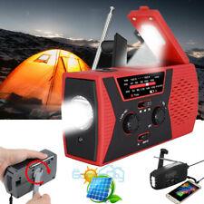 Emergency Solar Power Hand Crank Radio AM/FM/NOAA LED Light SOS Alarm Power Bank