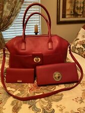 ❤️WOW‼️Gorgeous Kate Spade New York Chrystie St Weekend Business Red Leather Set