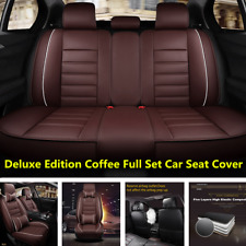 Deluxe 5-Seats Car Seat Cover PU Leather Full Set Cushion Interior Accessories