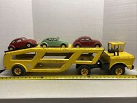 1968-1971 Mighty Tonka Car Carrier W/ 3  VW Bugs