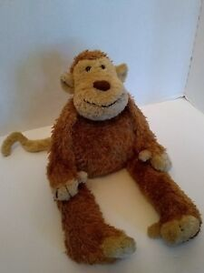 "Jellycat Junglie Marvin Brown Monkey Bunglie Soft Lovey Plush Stuffed Toy 17"""