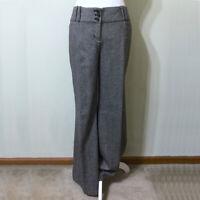 Wool Tweed Pants Black 8 Women's The Limited Drew Fit Wide Leg