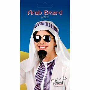 Arab Beard Men's Goatee Black Beard Arabian Sultan Fancy Dress