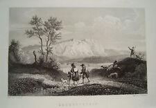 Sachsenstein Sachsenberg Bad Sachsa  Ludwig Richter echter alter Stahlstich 1844