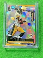 MIKE HILTON PRIZM CARD REFRACTOR SP # /135 STEELERS RC 2019 UNPARALLELED CUBIC