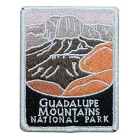 """Guadalupe Mountains National Park Patch - TX, West Texas Badge 3"""" (Iron on)"""