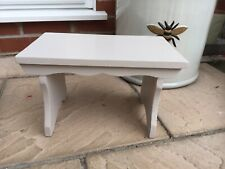 Country Cottage Small Solid Pine Painted Stool Seat Footstool