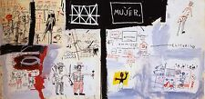 "Basquiat ""Price of gasoline in the third world 1982"" HD print on canvas 55x28"""