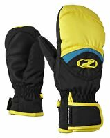 Ziener Kinder Ski Handschuh Fäustling LISBO GTX® JUNIOR schwarz gelb