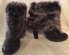 Women's' boots brown FUR size 9  EURO 39
