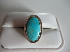 JAY KING DTR STERLING SILVER & TURQUOISE RING SIZE 7